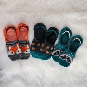 🦊 Cute Critter No Show Socks